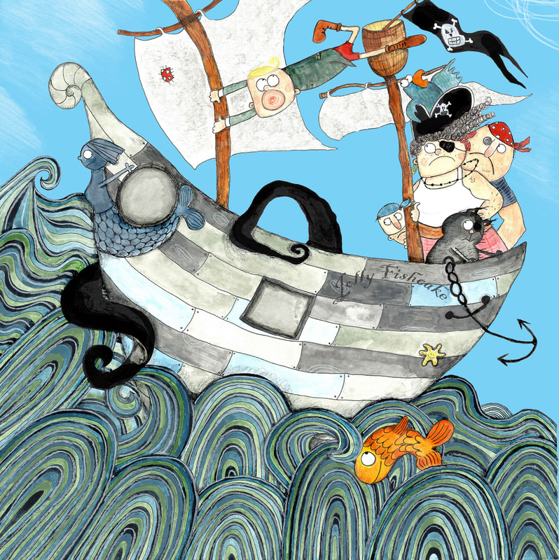 World's Worst Pirate Cover Page by Katrin Dreiling